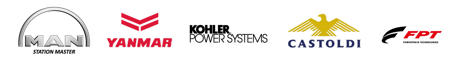 MAN, YANMAR, KOHLER POWER SYSTEM, CASTOLDI JET and FPT